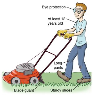 Lawn Mower Safety for Kids